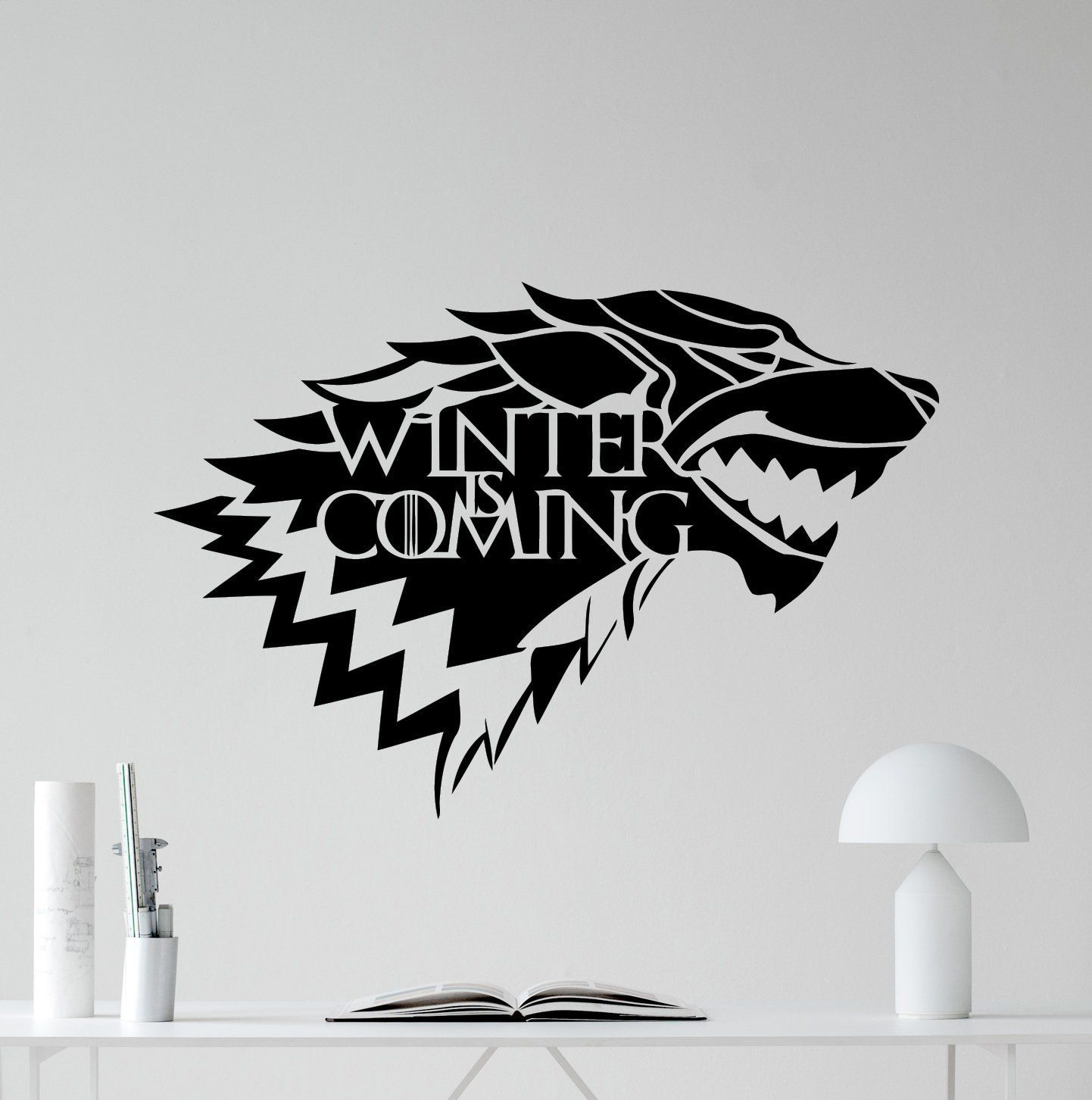 House Of Stark Logo Wall Decal Winter Is Coming Wolf Logo