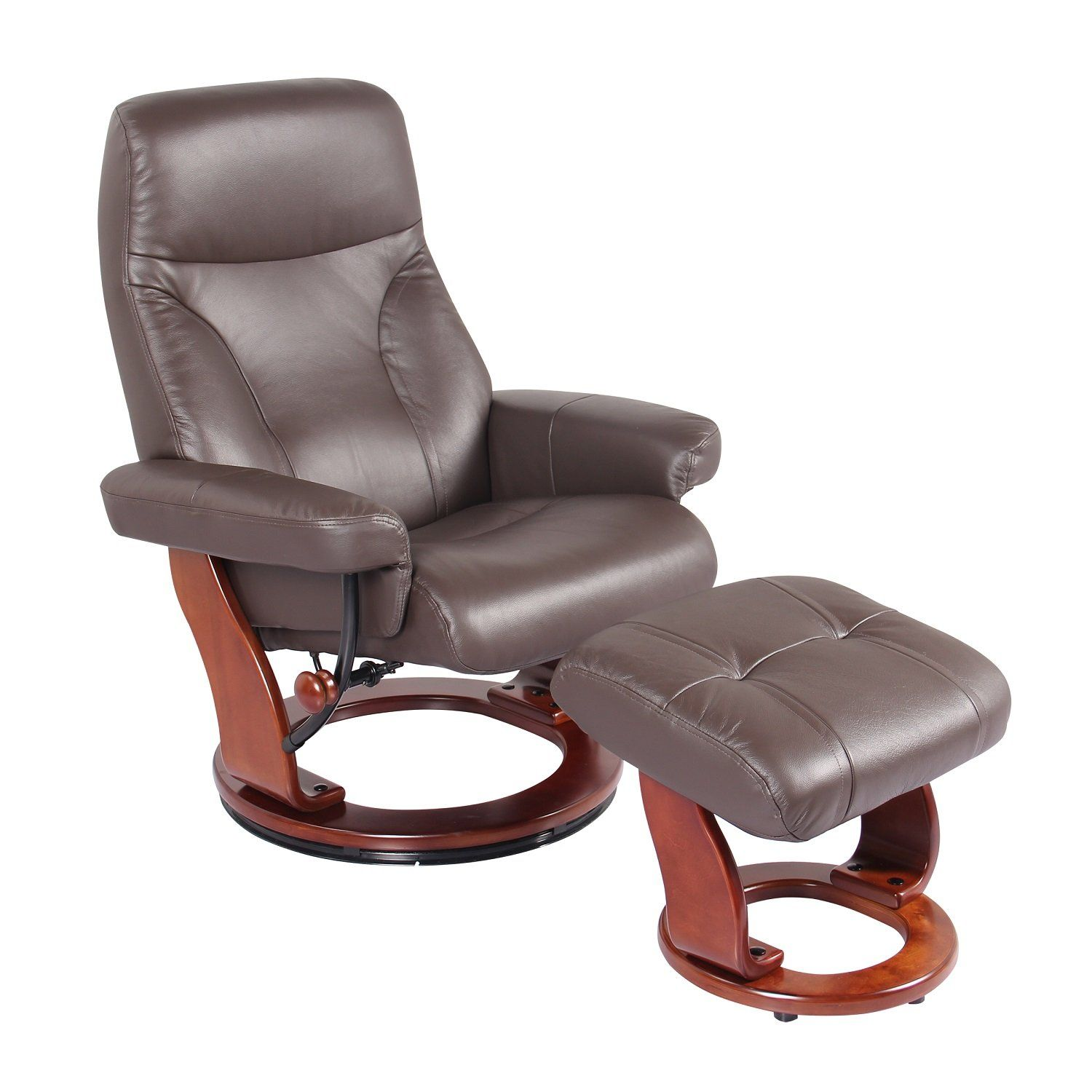 NewRidge Home Goods S7440073 NewRidge Home Leather Swivel