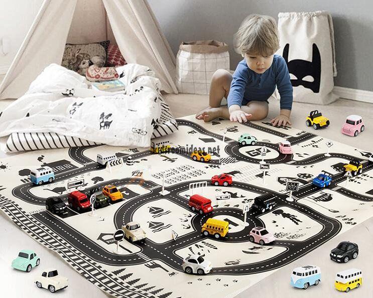 Car Racing Adventure Rug For Boys