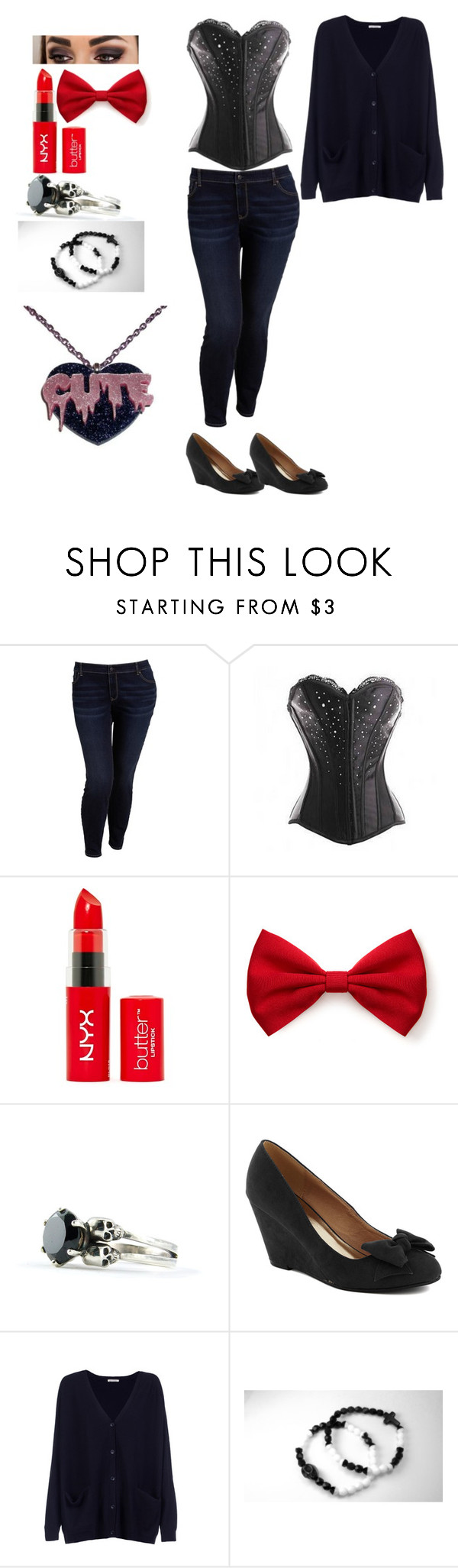 """""""Passage Outfit"""" by plus-size-princess ❤ liked on Polyvore featuring Old Navy, Forever 21, Hostess, American Vintage, women's clothing, women, female, woman, misses and juniors"""