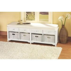 This Home Decorators Collection Oxford White Four Basket