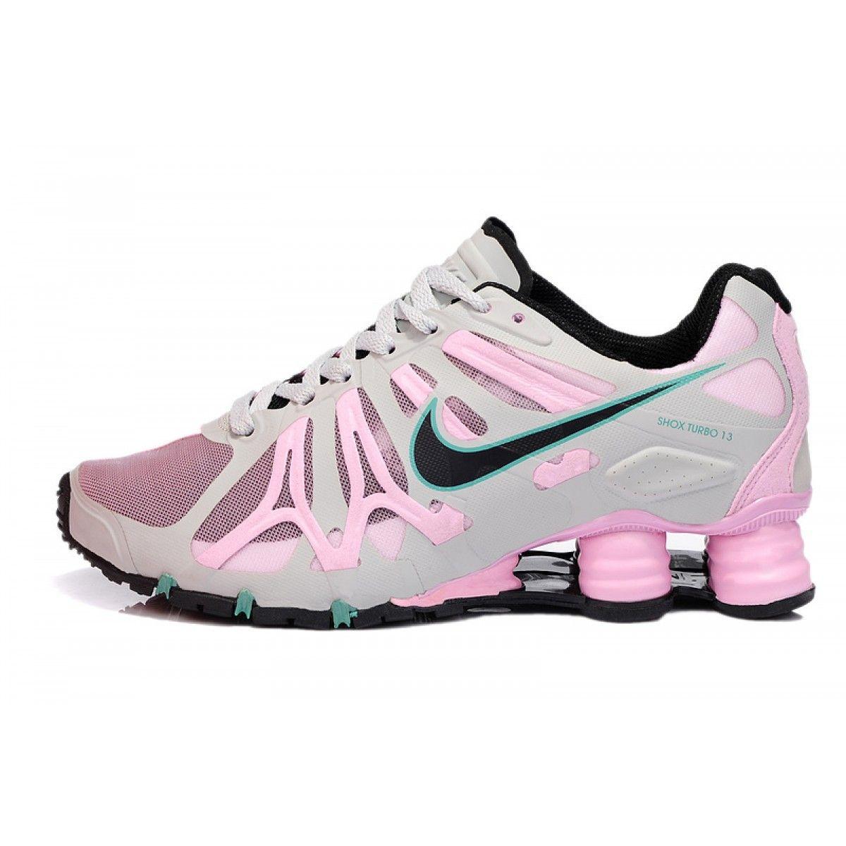 Nike Shox Shoes for Women  Home Nike Shox Turbo13 Womens Shoe Grey Pink