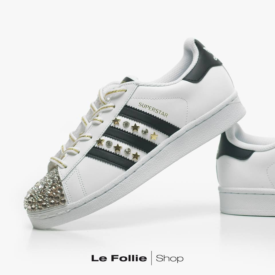 Sneaker superstar White/gold Adidas - Le Follie Shop