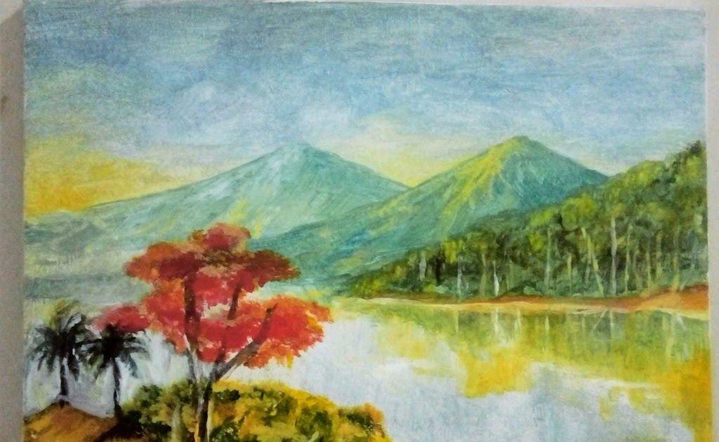 24 Lukisan Pemandangan Alam Sawah Dan Gunung Ada Juga Yang Tengah Memanen Padinya Yang Menguning Gunung Adalah Salah Satu Bentuk Di 2020 Painting Pemandangan Gambar