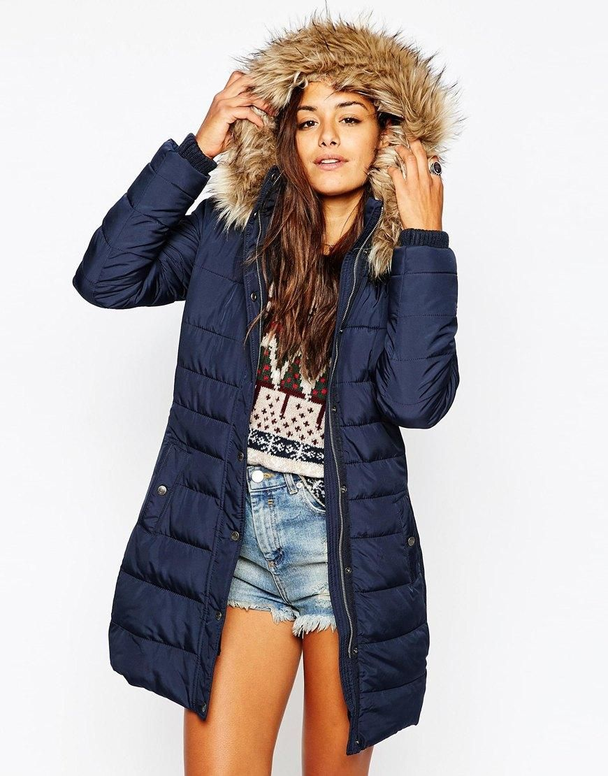 4b397f3e1 Abercrombie & Fitch | Abercrombie & Fitch Padded Puffer Coat With ...
