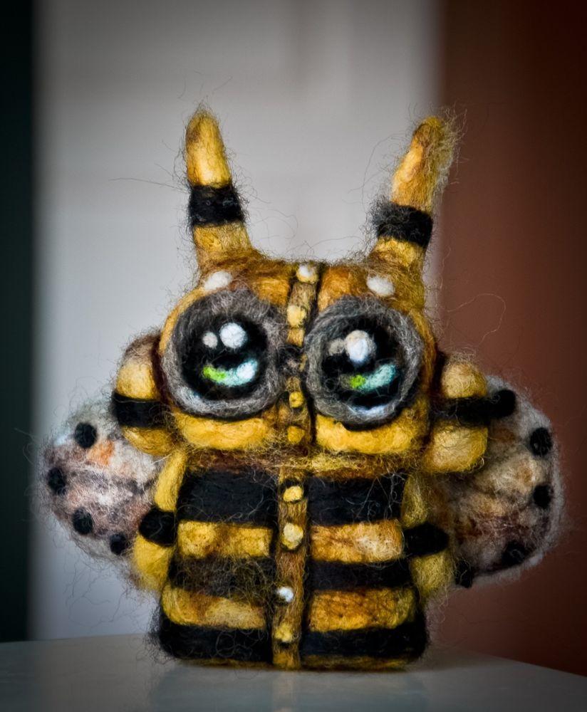 Needle Felted Felting #Steampunk #Bumblebee #Robot Bee Doll Wool Miniature Art
