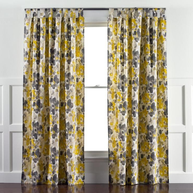 Great DwellStudio Landsmeer Yellow And Gray Curtain Panel