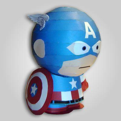 Maqueta de papel Figura Capitán América