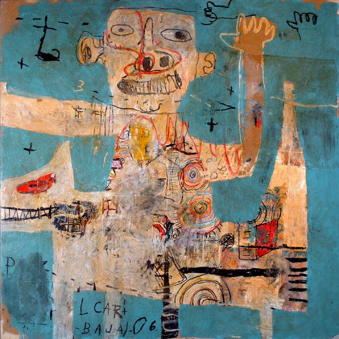 """Lyle Carbajal (""""urban-primitive"""" painter)"""