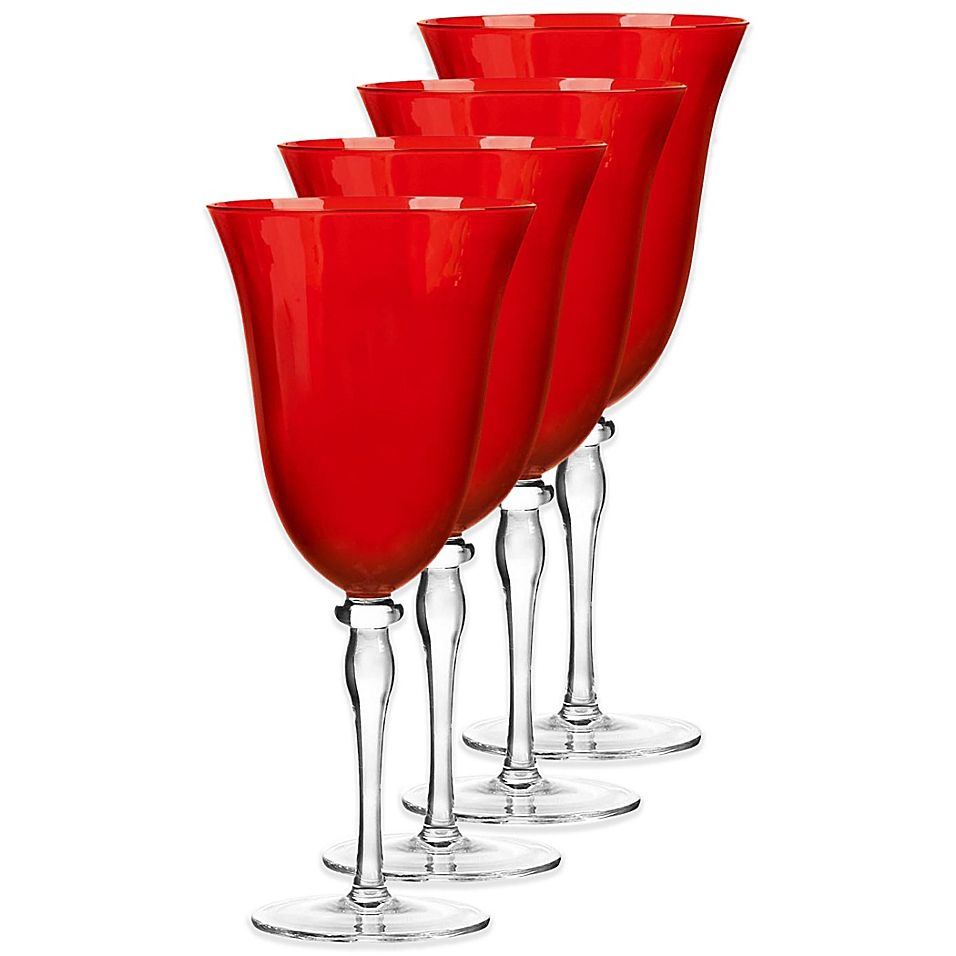 Qualia Rouge Red Wine Glasses Set Of 4 Bed Bath Beyond Red Wine Glasses Wine Glasses Personalized Wine Glass