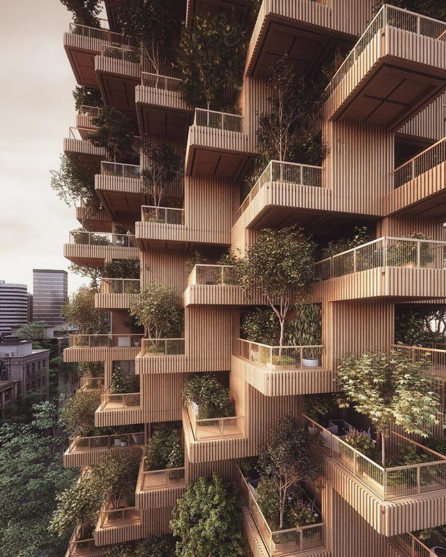 Dezeen Featured Our Toronto Tree Tower Today Architecture - 384ft tall apartment will be the worlds first building to be covered in evergreen trees