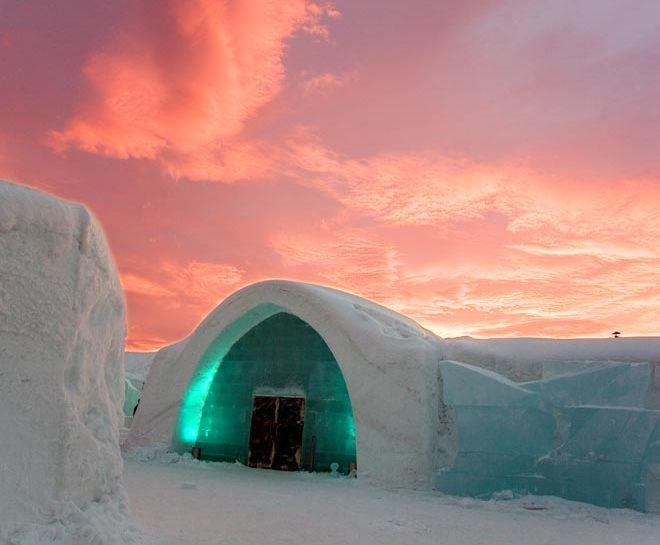 Northern Lights Ice Hotel Sweden Resor Landskap Natur