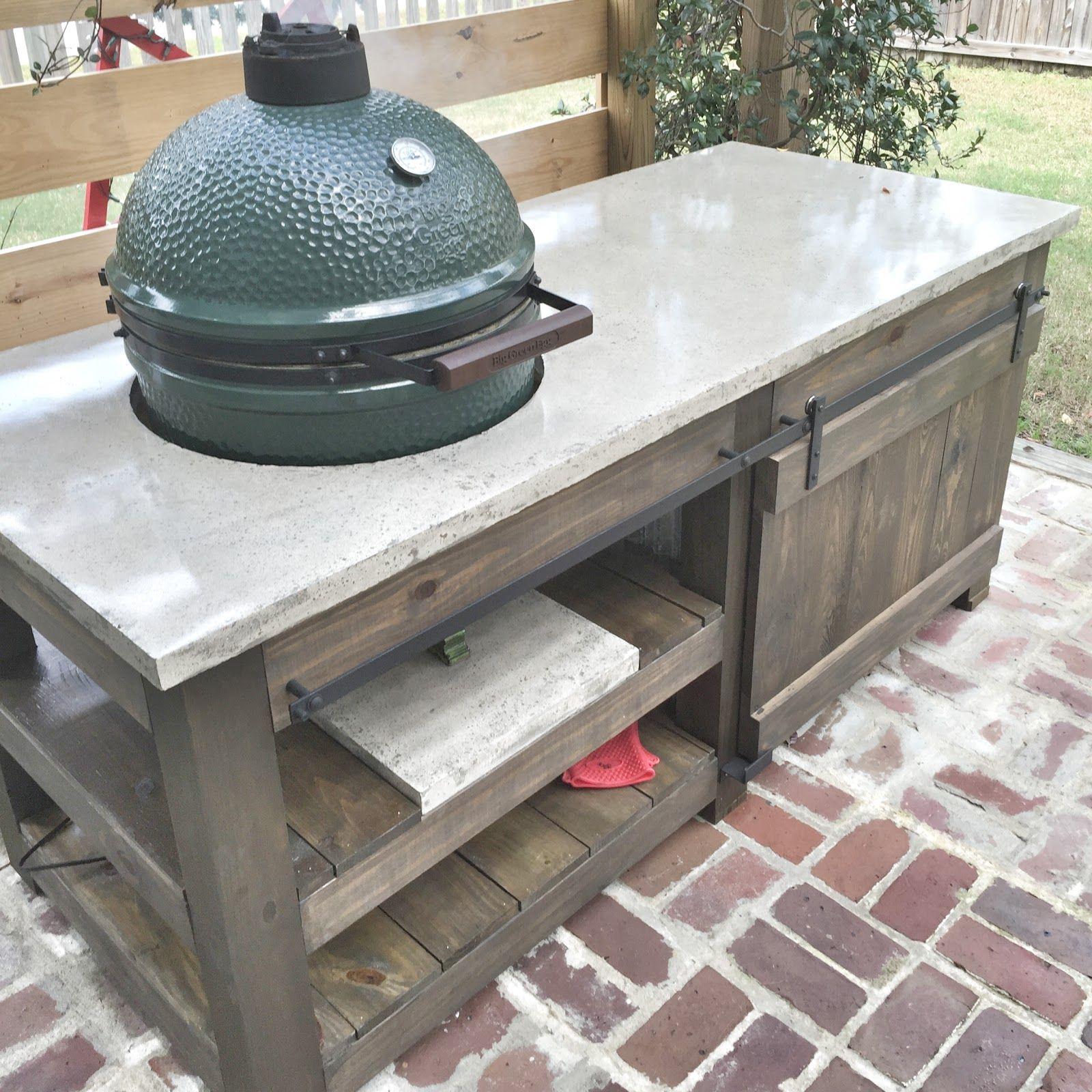 Big Green Egg: Concrete Top Table Plans | Big green egg table, Green ...