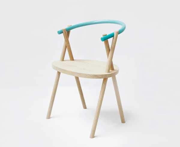 Wonderful Metal And Wood Chair Design Showcasing Simplicity Of Minimalist Style
