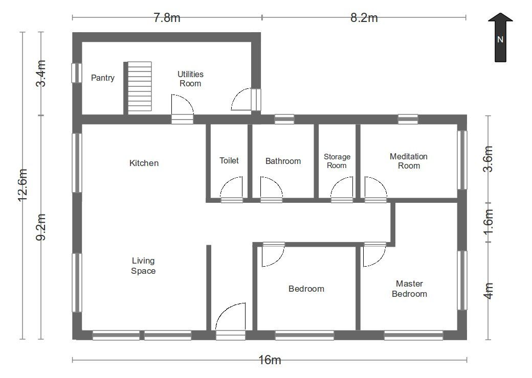 Simple layout plan google search vmp2 artisan for Simple 3 bedroom house plans and designs