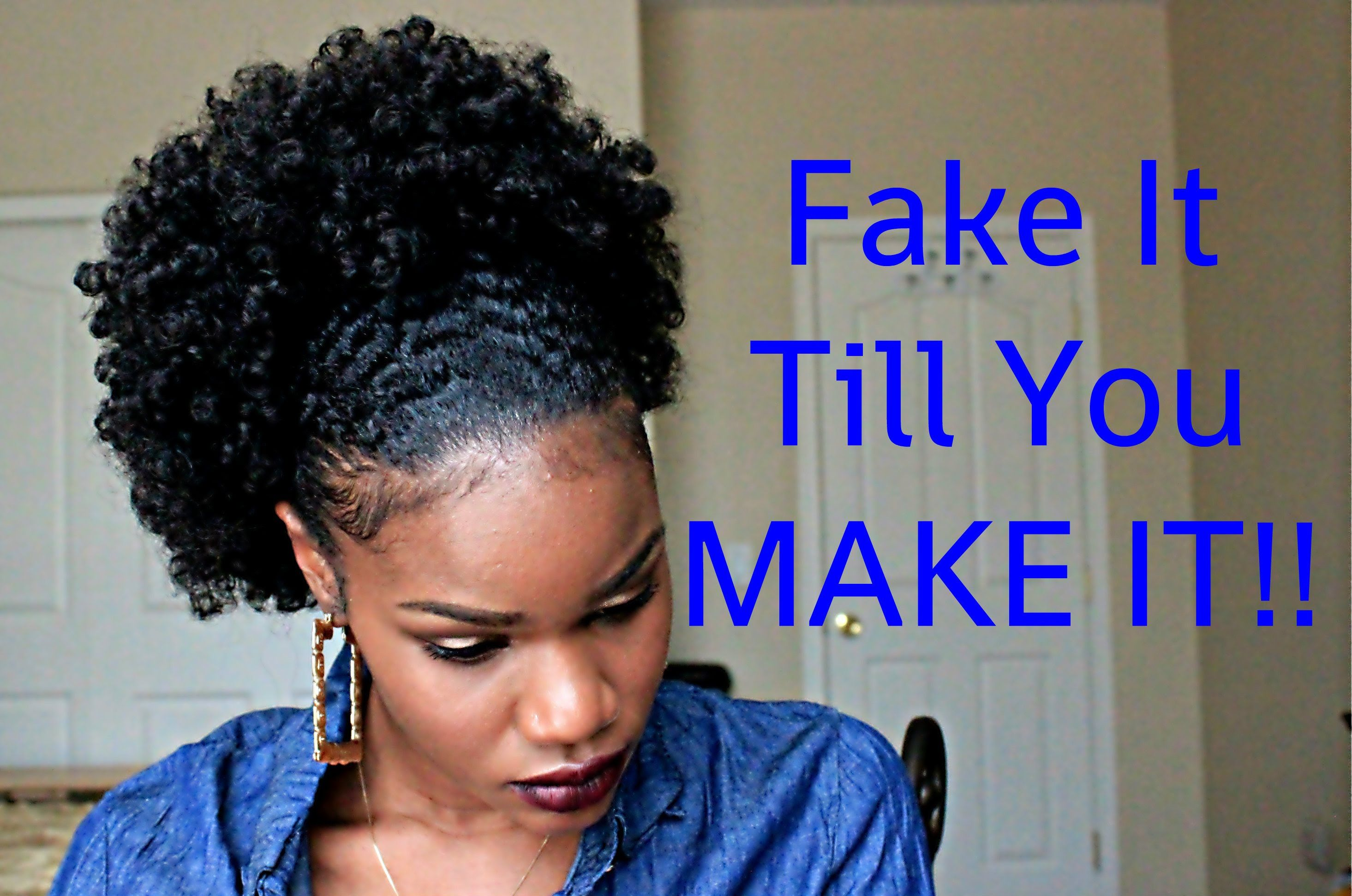 Fake It Till You Make It Girl Go From Twa To A Large Fro Puff In Mins Sis Natural Hair Styles For Black Women Natural Hair Styles Easy Natural Hair Styles