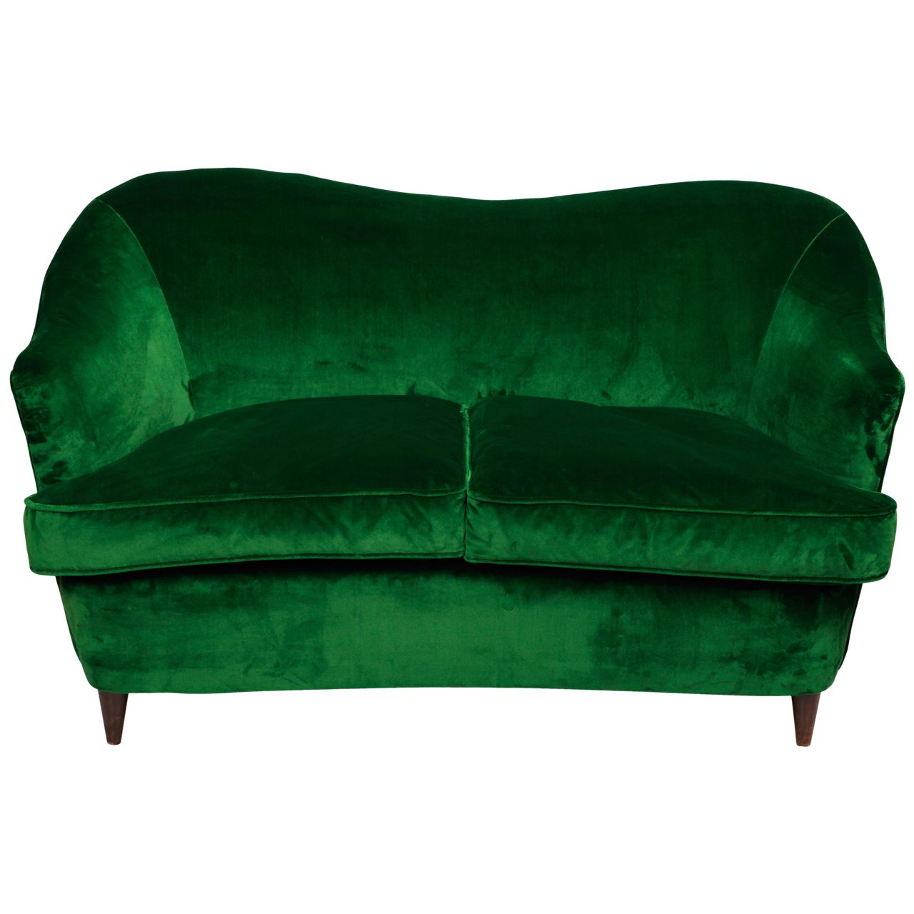 Little 1930s Curved Italian Sofa | Casa Heather | Italian sofa, Sofa ...