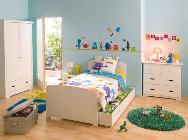 Chambre garcon bleue stickers | deco enfant | Pinterest | Chambre ...