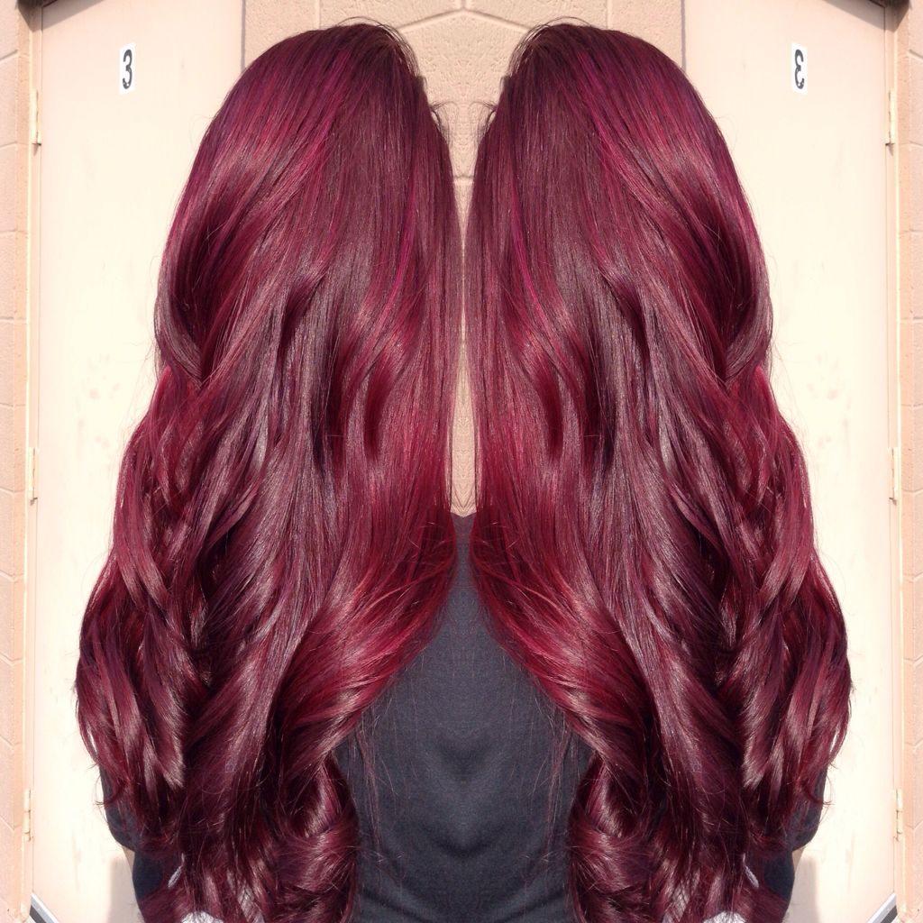 Joico hair color tags color jocio joico - Color I Did Paul Mitchell And Joico Burgundy Red Violet Www Ashleynicolehairstylist Com