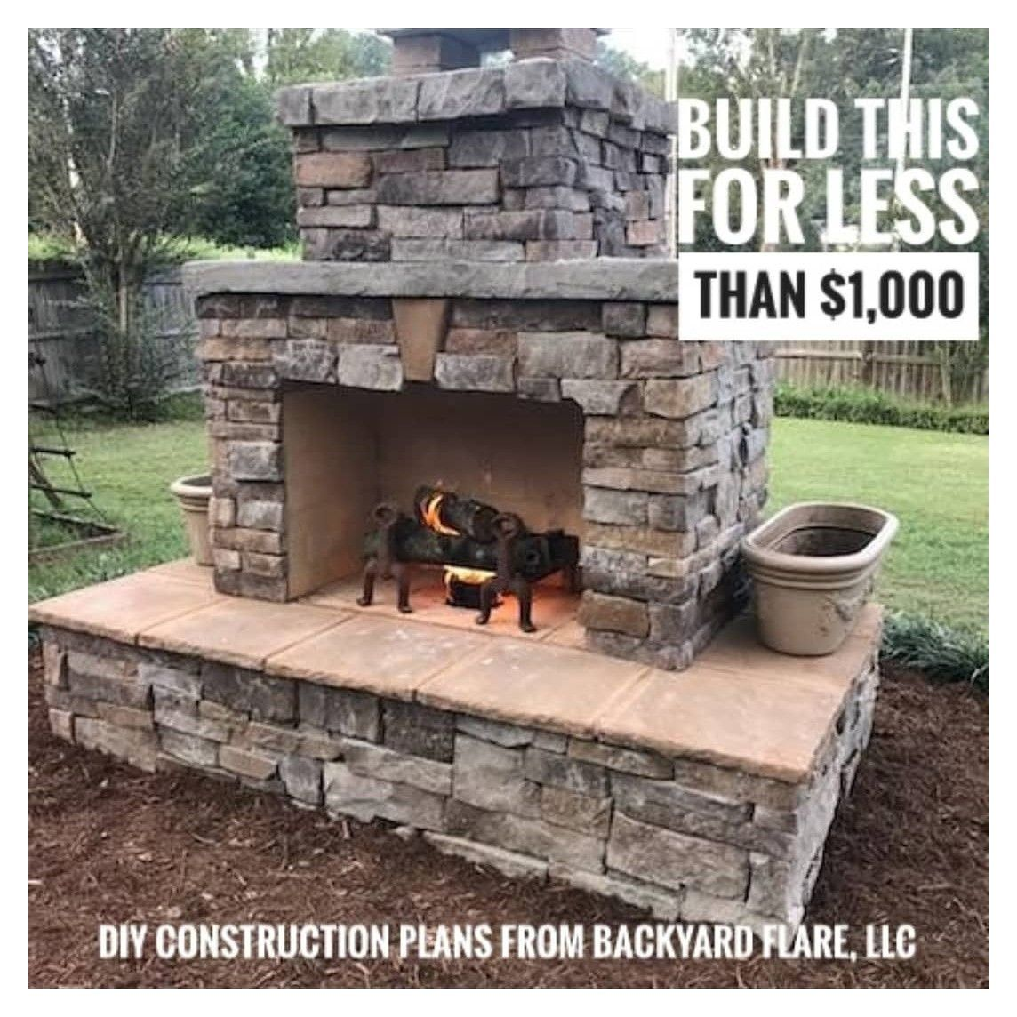 Diy For Less If You Have The Space In Your Backyard And Want A Great Experience With A Great In 2020 Diy Outdoor Fireplace Outdoor Stone Fireplaces Backyard Fireplace