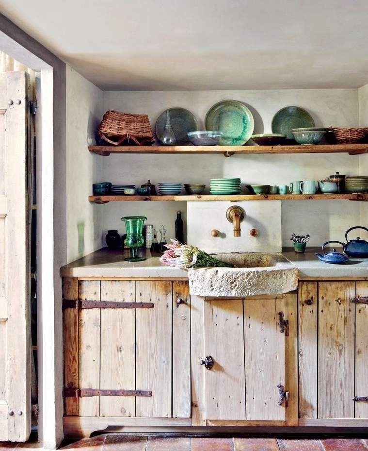 Cuisine rustique moderne 20 mod les de cuisine d - Refaire sa cuisine rustique en moderne ...
