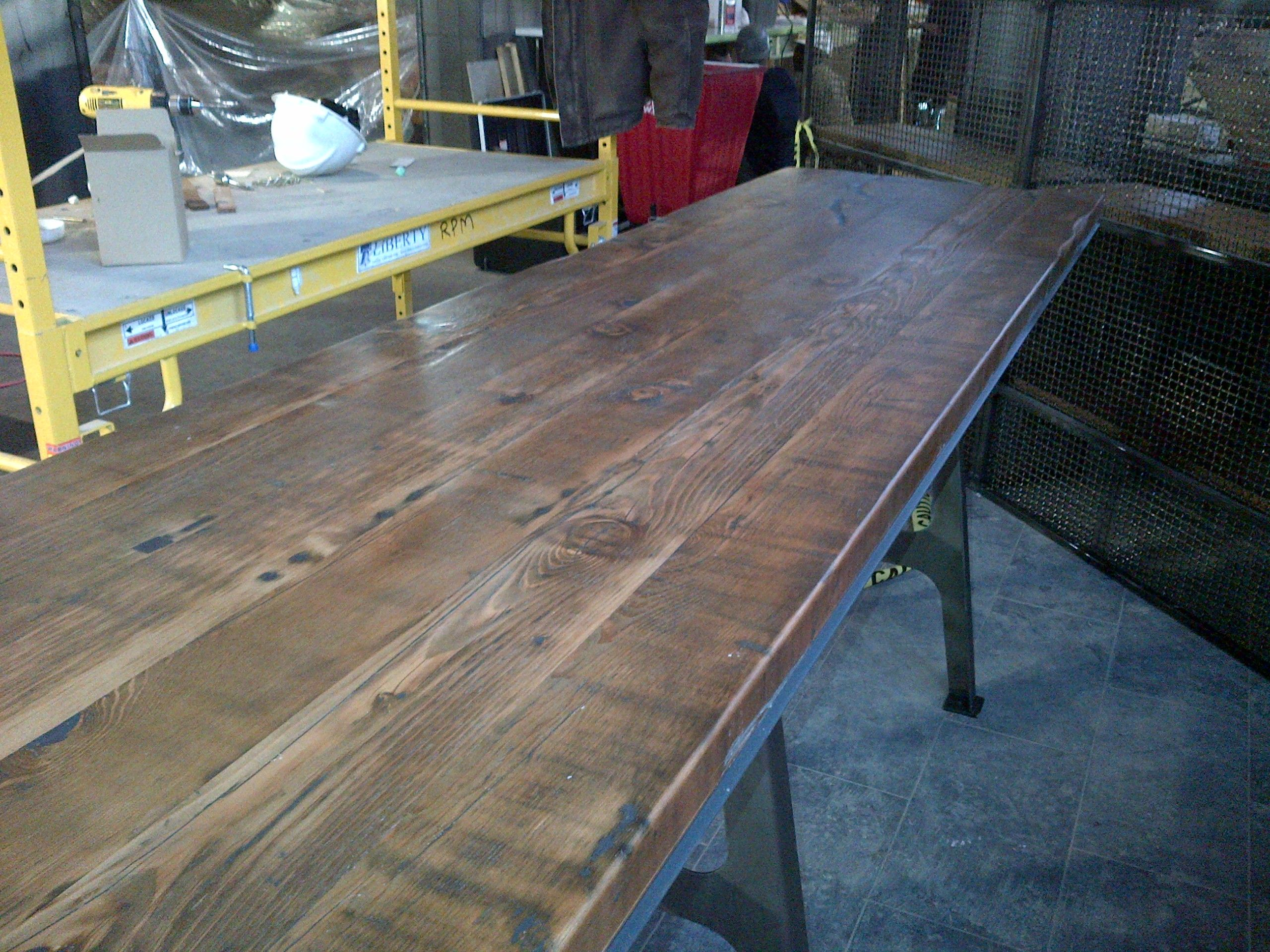 Distressed Fir Party Table With Images Custom Butcher Block
