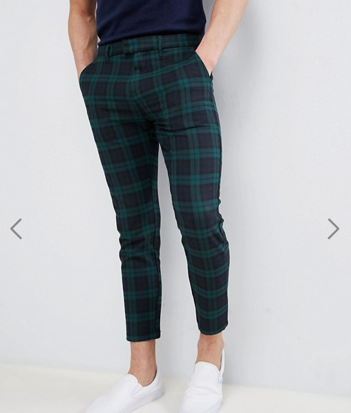 3335f9ab Pull&Bear Tailored Trousers In Green Check Fashion Online, Latest Mens  Fashion, Sweatpants, Green