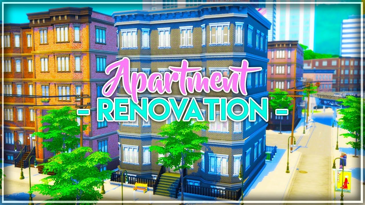 Let S Renovate An Apartment City Living The Sims 4 2a Jasmine S Sims 4 City Living City Living Sims 4