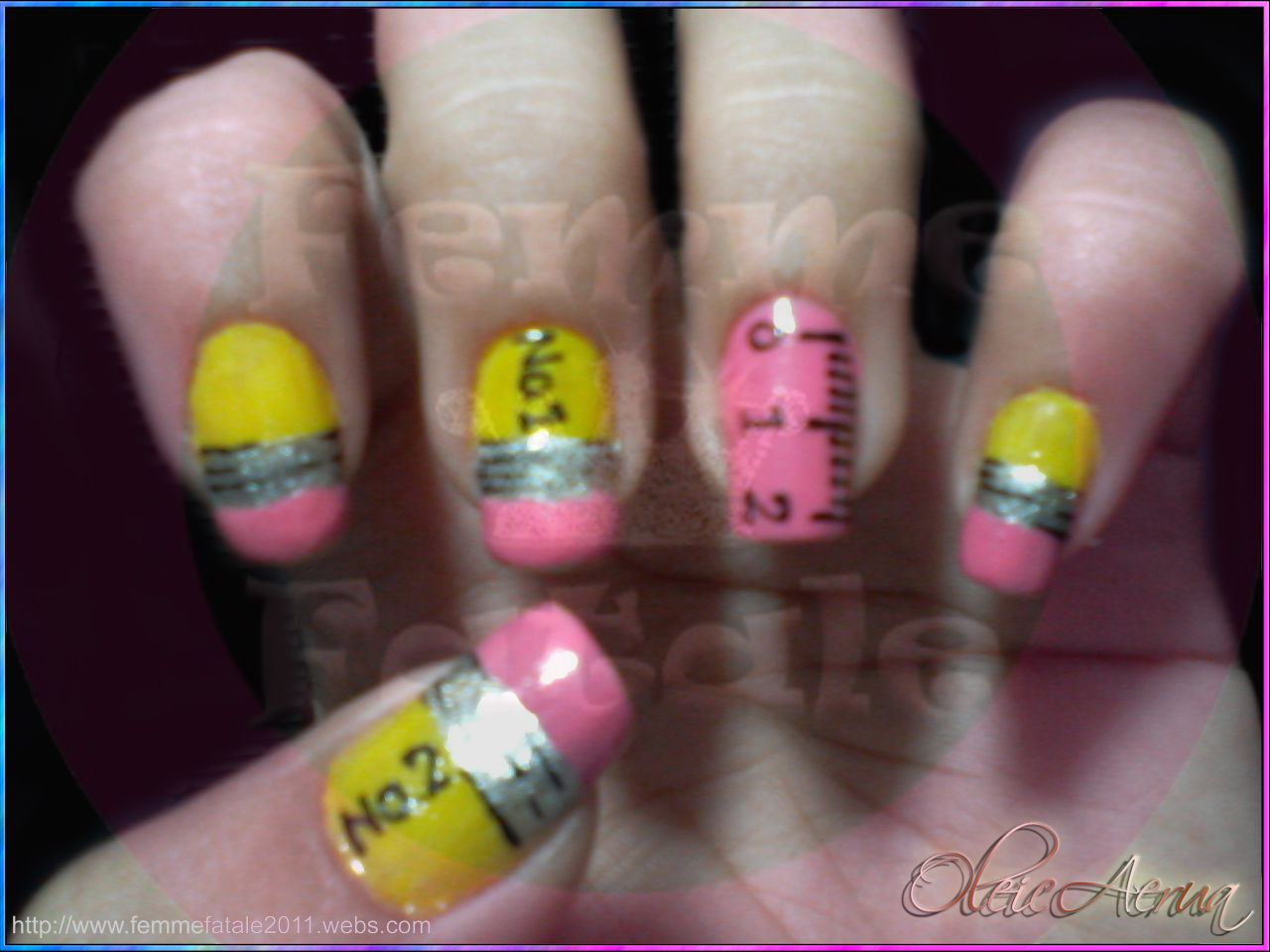 I love the Ruler Nail! I\'d want it on every nail, maybe in different ...