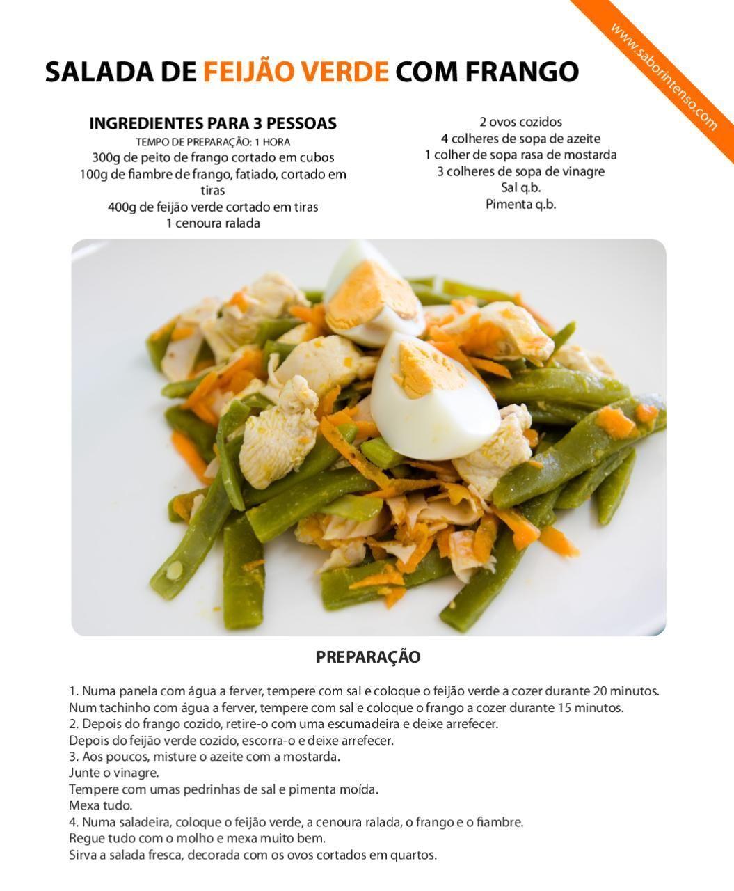 Salada de feijão verde com frango