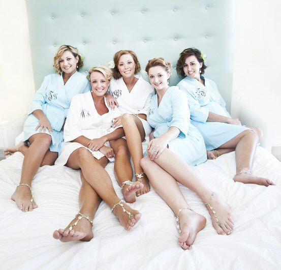 Monogrammed Robes For Bride Bridesmaids To Get Ready On Day Of Fun Gift