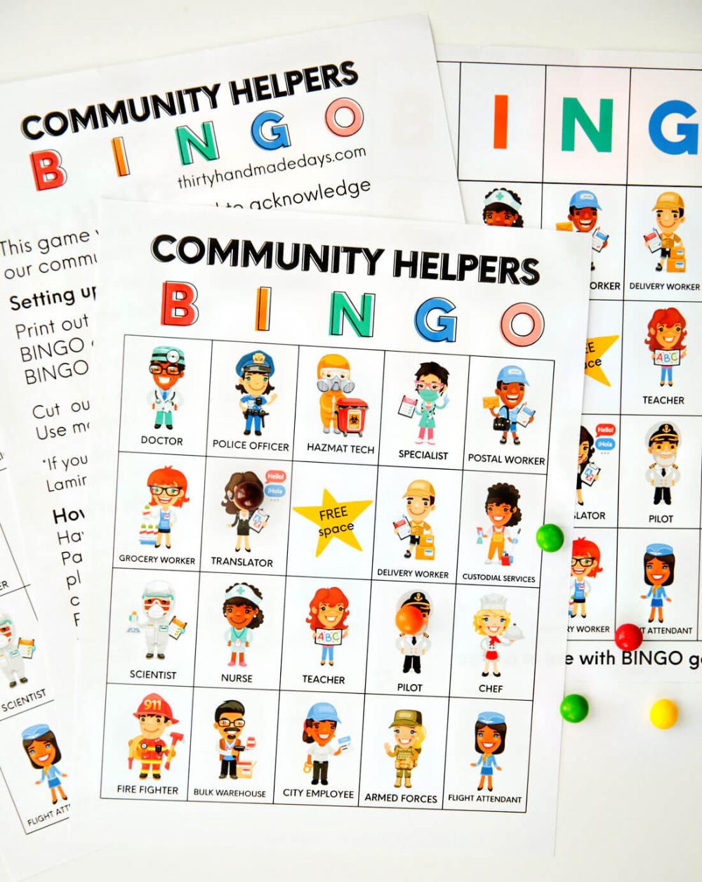 Community Helpers Bingo Community Helpers Bingo Community Helper [ 1256 x 1000 Pixel ]