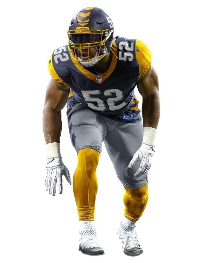2090d4277 2019 Alliance of American Football (AAF) San Diego Fleet football uniform