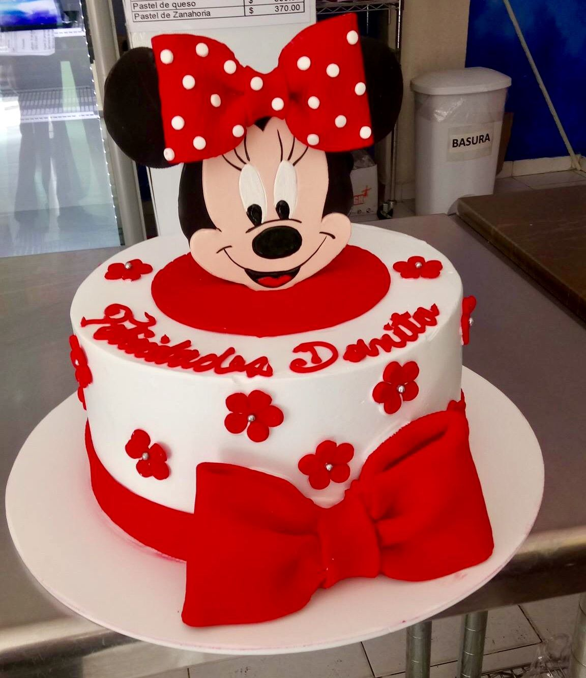 Pastel Red Minnie D Pasteles T