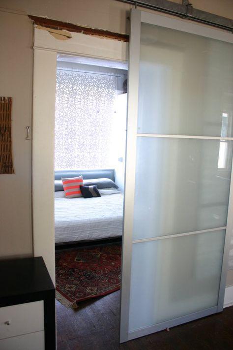 Pax Armoire Doors Get New Life as Barn Doors (con immagini