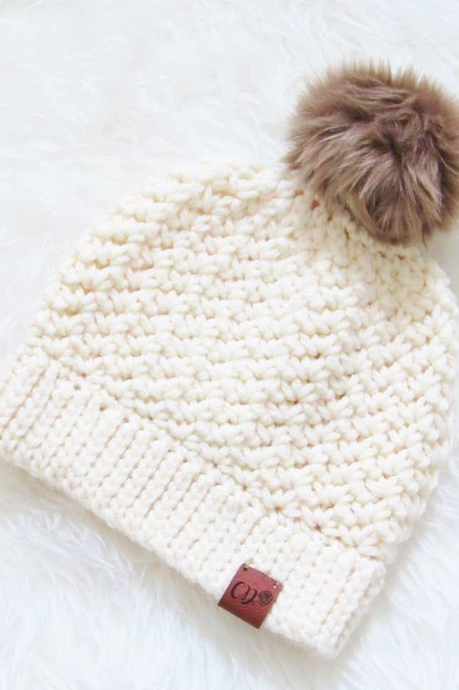 How to Crochet a Beanie, 1.5 Hour Chunky Hat – Crochet Dreamz –  – #Beanie #Chun…