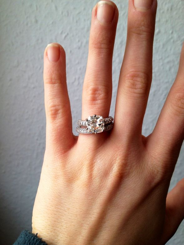 ring my beautiful engagement ring and wedding band - Engagement Ring And Wedding Band