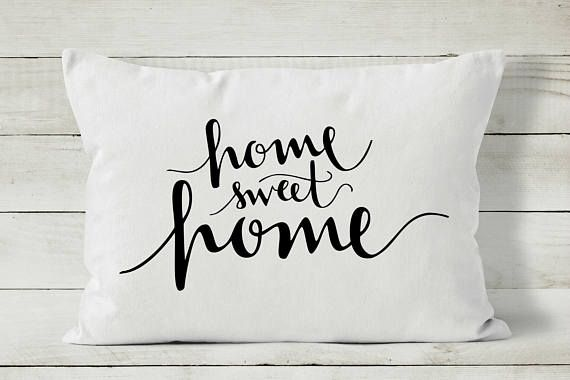 Home Sweet Home Pillow Decorative Throw Pillow Quote Pillow