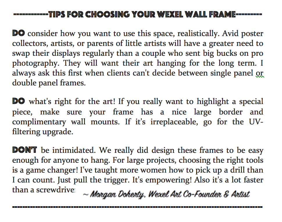 Tips for choosing your acrylic float frames from Wexel Art from our ...