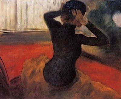 Edgar Degas (1834–1917) Trying on a Hat