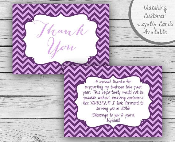 Digital Double Sided THANK YOU CARD Younique Inspired Customer Thank You Post Card Business Cards Professional Printing Cosmetics