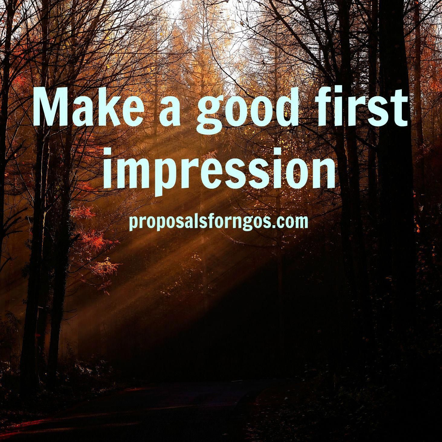 Make A Good First Impression When Approaching A Donor For