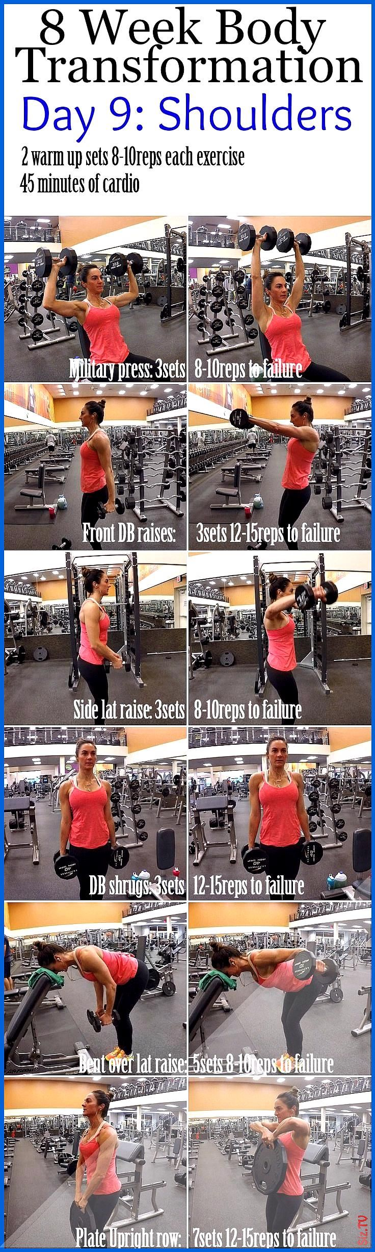8 Week Body Transformation Day 9 Shoulders  Fitness Food Diva 8 Week Body Transformation Day 9 Shoul...