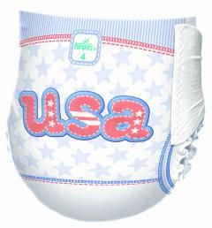 These USA diapers from Pampers are too cute! In celebration of the London 2012 Olympics!