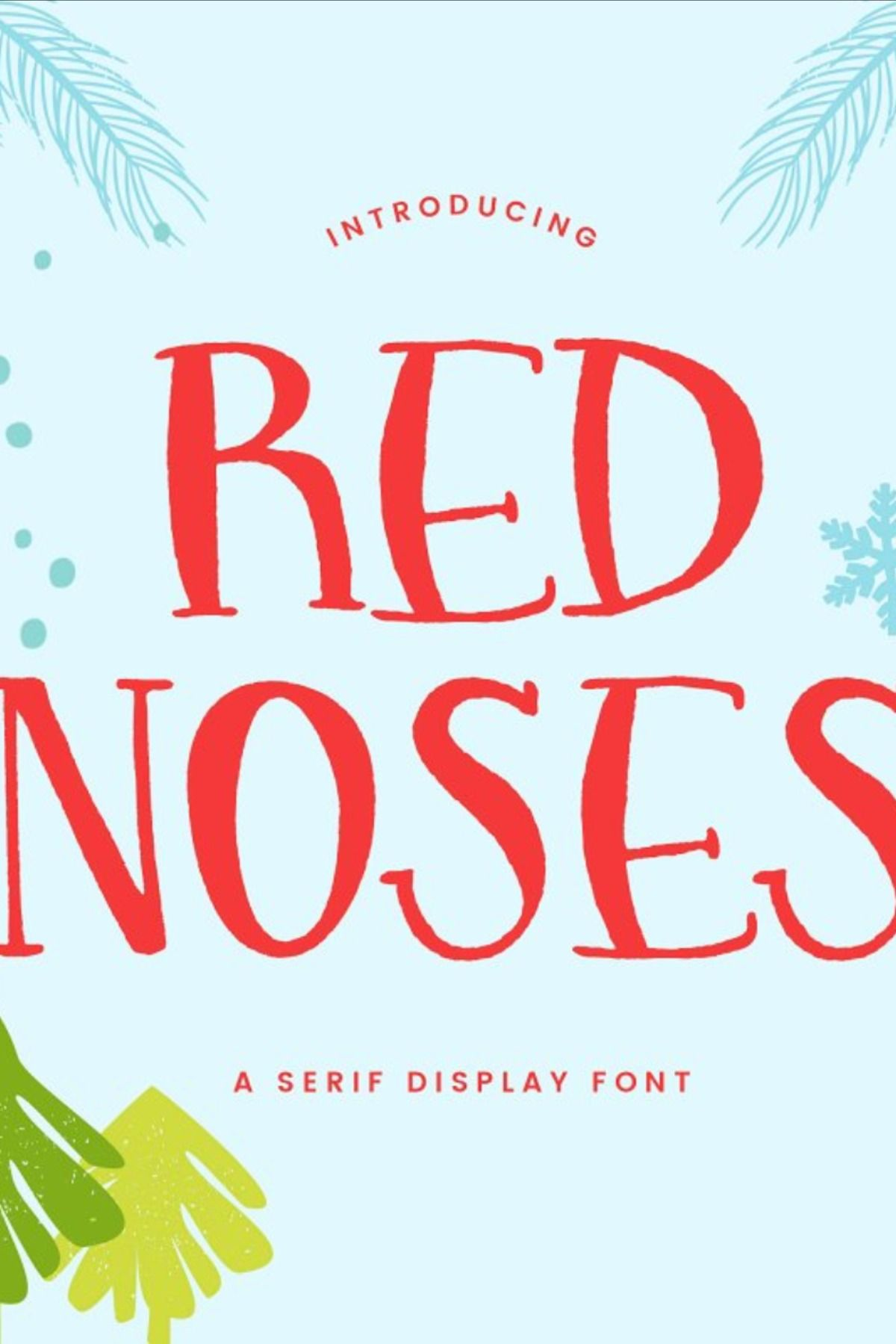 Red Noses | A Serif Display | Lettering fonts, Christmas ...
