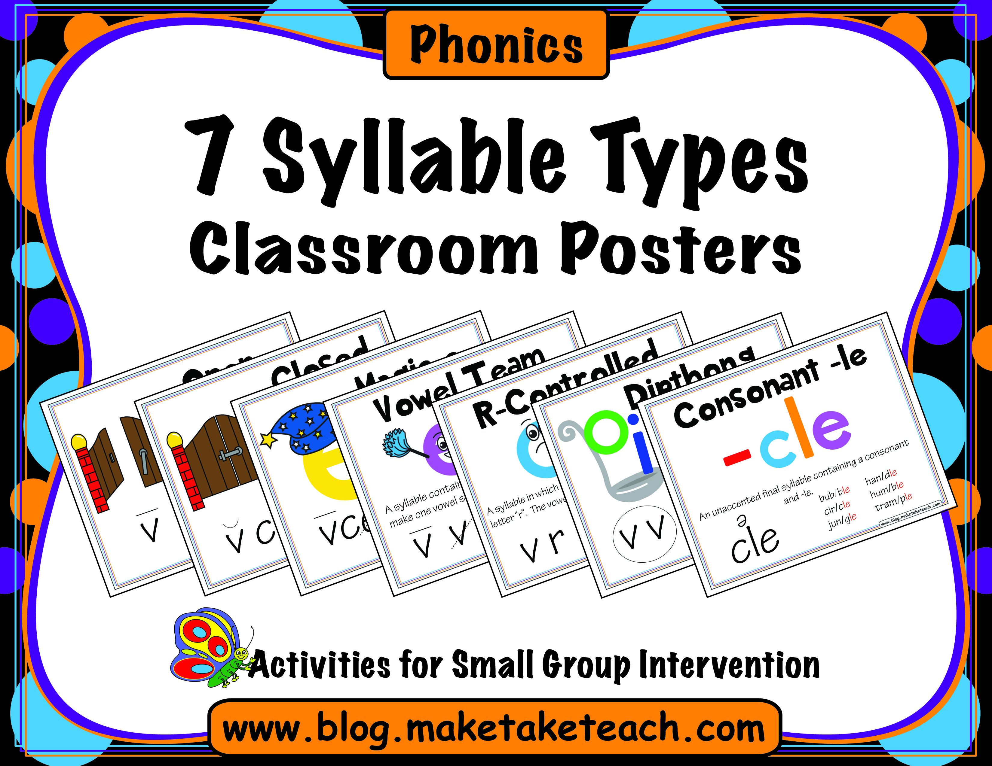 Syllable patterns vccv worksheet education com - 7 Syllable Types Classroom Posters Make Take Teach