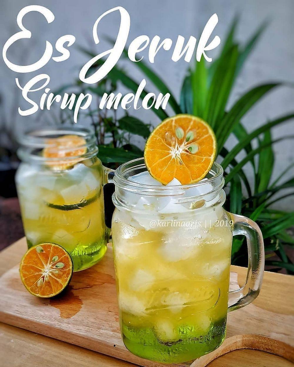 Es Jeruk Sirup Melon Di 2020 Resep Minuman Minuman Resep