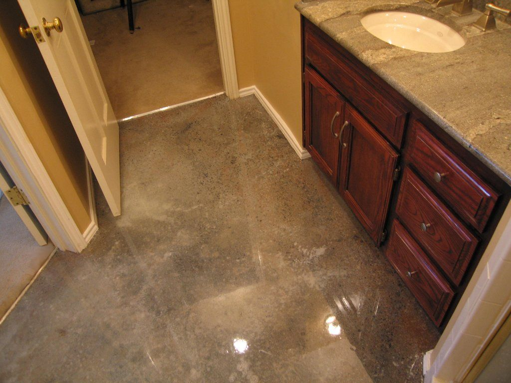 Diy acid stain concrete floors dallas fort worth for Stained polished concrete floor