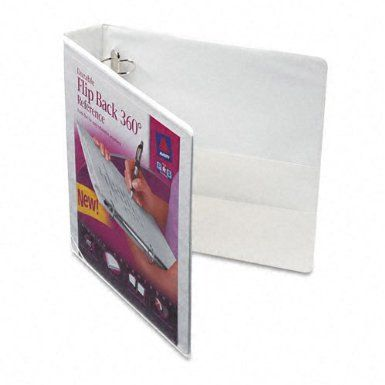 Amazon Com Avery Flip Back 360 Degree Binder With 1 5 Inch Ring White 1 Binder 17590 Office Products Ring Binder Presentation Binders Unique Ring Designs