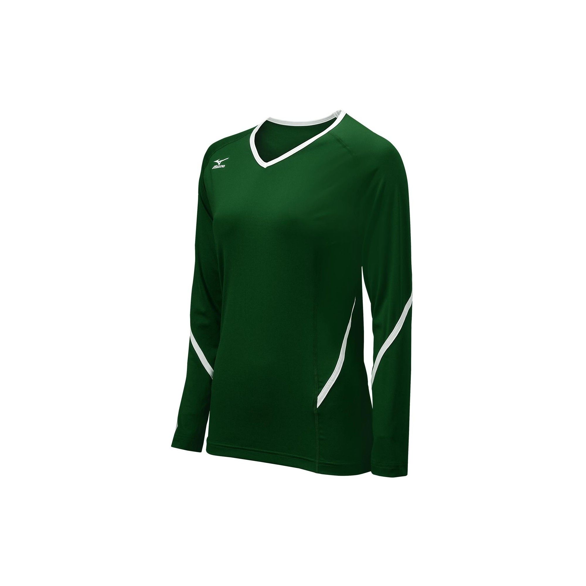 Mizuno Women S Techno Generation Long Sleeve Volleyball Jersey Size Medium In Color Forest White 4100 Long Sleeve Tshirt Men Long Sleeve Jersey Long Sleeve